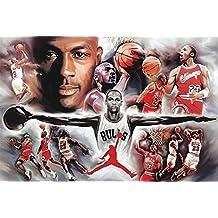 Póster Michael Jordan Colaje (152,5cm x 101,5cm) + 1 póster sorpresa de regalo