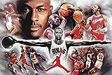 Best historia Pósteres - Póster Michael Jordan Colaje (152,5cm x 101,5cm) + Review