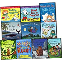 Julia Donaldson Collection 10 Books Pack Set (The Snail and the Whale, Room on the Broom, Goat Goes to Playgroup, Toddle Waddle, Wriggle and Roar!: Rhymes to Join in with, Freddie & the Fairy, Wake Up Do, Lydia Lou!, Monkey Puzzle, The Gruo.....)
