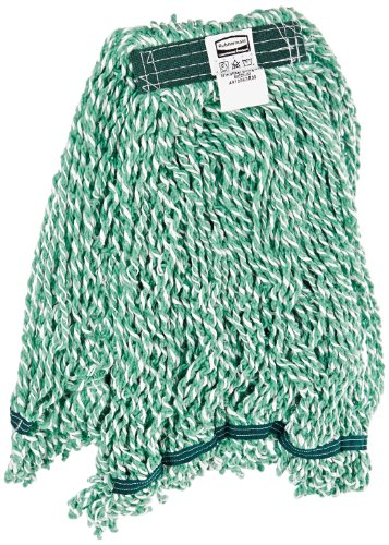 Rubbermaid Commercial 1 inch Web Foot Microfiber String Mop - Green