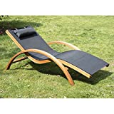 Outsunny® Liegestuhl Sonnenliege Gartenliege Lounge Relaxliege Relaxsessel