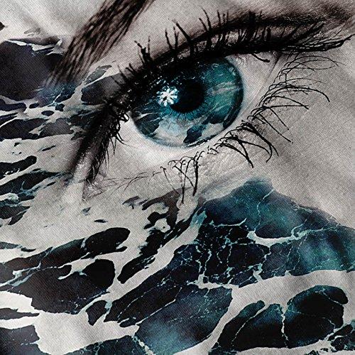 Auge Stilvoll Drucken Mode Ozean Welle Damen S-2XL Muskelshirt | Wellcoda Grau