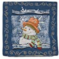 SALE Gorgeous Tapestry Christmas Cushion SNOWMAN DESIGN