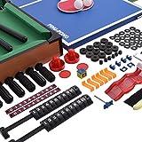 Multifunktionsspieltisch Multi-Spieltisch Multigame 4 in 1 Tischfußball Billard Tischtennis Hockey - 7