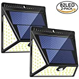 Luposwiten LED 82 Sensorlampe für Außen mit Solarpanel Bewegungserkennung Sicherheitsbeleuchtung...