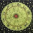 Handicrunch Tagesdecke Sternzeichen 230x200cm Astrologie Horoskop indische Decke Haushalt Bettware Heimtextilie