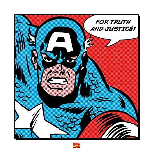 pyramid-international-captain-america-for-truth-and-justice-40-x-40-cm