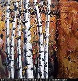 ZXJYH Reine Handgemalte Abstrakte Weise Einfache Kleine Baum Muster Öl Malerei Sofa Im Wohnzimmer An Der Wand Malen Rahmenlose Home Deko Wandbild, 80 X 80 cm