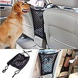 Auto Hunde Barriere Auto Mesh Organizer, Universal Auto Sitz Net Organizer Stören Stopper von Kindern und Haustieren mit Haken