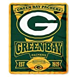 Officially Licensed NFL Marquis Fleece Throw Blanket - Green Bay Packers