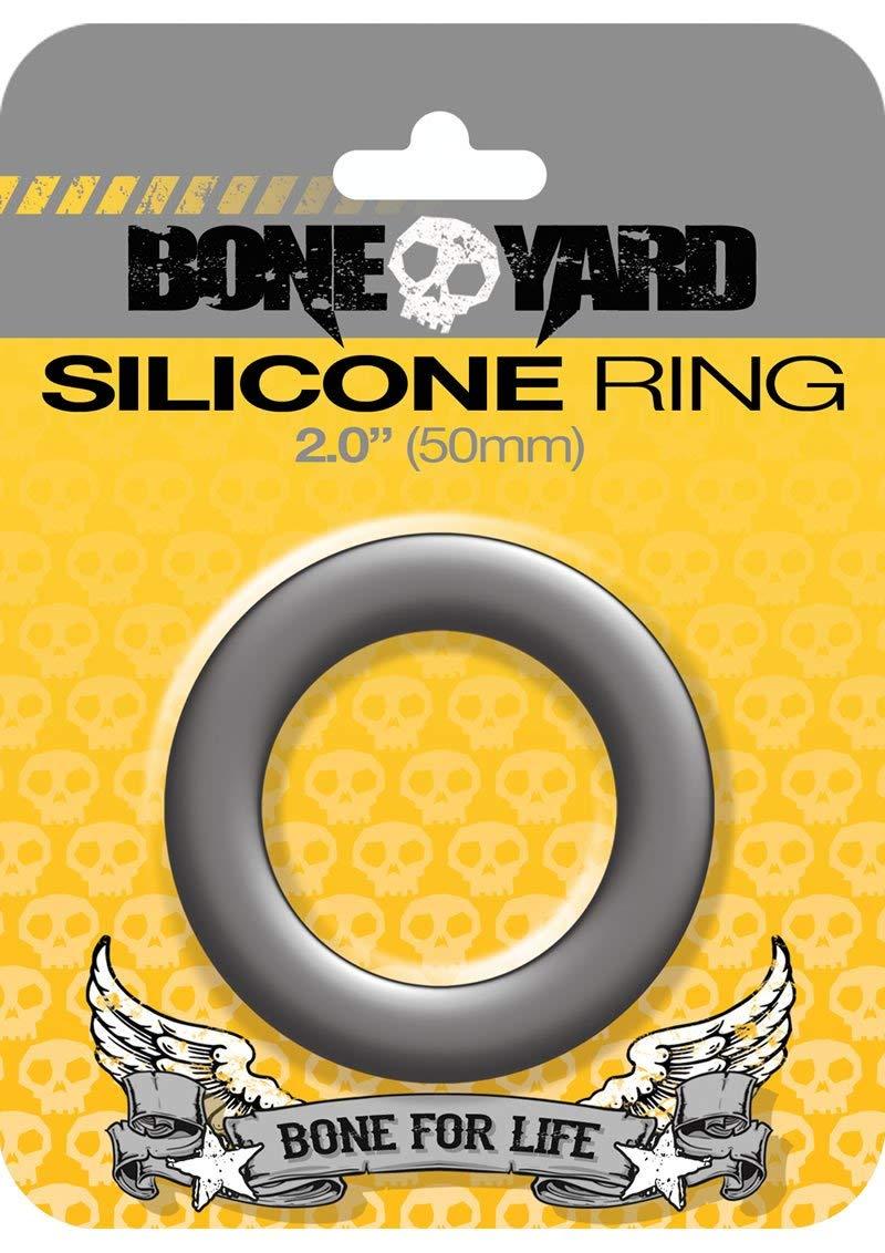Boneyard Silicone Ring, 50 mm, Grey