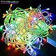 JinTo Guirlande Lumineuse Etanche 20M 200 LED Color�es, D�co No�l Mariage Prise EU