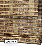 ZEMIN Bambus Rollo Bambusrollo Jalousette Venetian Schatten Innen/Außen Installieren Anpassbar Isolierung Boutique Handhebend, 3 Farben, 19 Größen (Farbe : #3, Größe : 90x200CM)