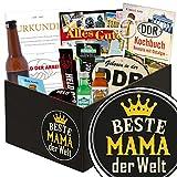 Beste Mama der Welt | Männer Set | Geschenk Ideen | Beste Mama der Welt | Männer Box | Geschenkideen für Mama | Geschenk für Mama zum 55 Geburtstag | GRATIS DDR Kochbuch