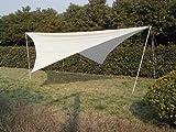 Sonnensegel 4 x 4 Meter von HI - Jetzt mit 90 % UV Schutz - Art. 62288