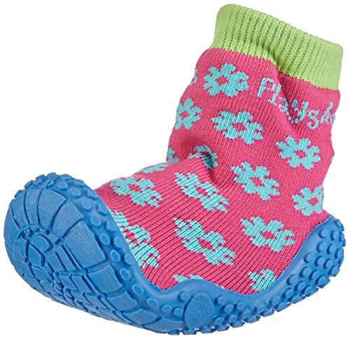 Playshoes Aqua-Socke Badeschuhe Blume 174805, Mädchen Aqua Schuhe, Pink (original 900), 24/25 EU