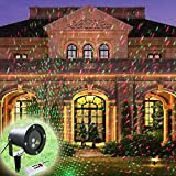 Maison Jardin Best Deals - GAXmi Paisaje iluminación de inundación Impermeable focos Remoto Controlar Estrellado Rojo verde patrón de manchas Al aire libre cubiertas de Luz para Jardín Navidad Fiesta (Enchufe de la UE)