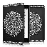 kwmobile Cover per Kobo Aura ONE - Custodia protettiva a libro per e-reader in similpelle - Case flip per e-book reader Design fiore bianco nero - kwmobile - amazon.it