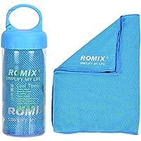 ROMIX Mikrofaser-Handtuch, Kühlhandtuch Reisehandtuch Fitness- und Sporthandtuch eiskalt, saugfähig, Schnelltrocknend, streichelweich 30 x 90 cm