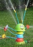 WIM-SHOP Kinder Wasser-Spritzer Raupe mit 8 Spritz-Armen Höhe 25,5cm