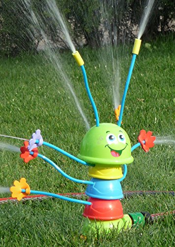 WIM-SHOP Kinder Wasser-Spritzer Raupe mit 8 Spritz-Armen Höhe 25,5cm -