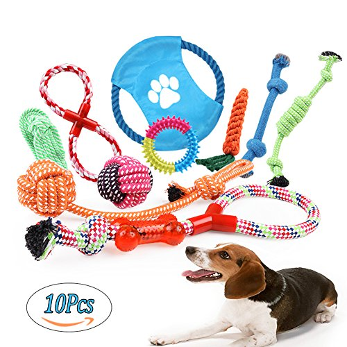 Dog Rope Toys Puppies Dogs Cotton Rope Toy Set Durable Chew Toys for Small Medium and Larger Dogs (Pack of 8)