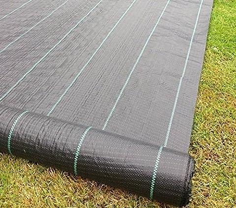 Jardin Mile® 2m x 50m Tissu anti mauvaises herbes Ultra
