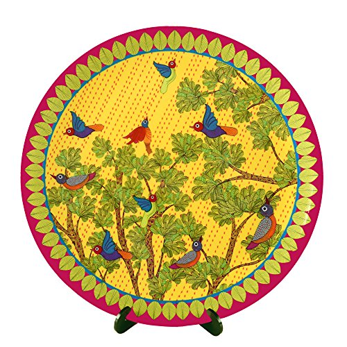 Kolorobia Gond Art Inspired Home Decor Wall Plate 7.5
