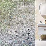 HW Vinilo para Ventana Privacidad,Pegatinas Decorativasde Ventana,Autoadhesiva con Electricida Estática (Colorful Stone 3D) (45_x_200_cm)