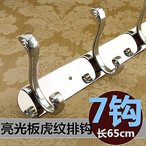 Continental in acciaio inossidabile dragnets retrò aderente alla parete gancio di sospensione bagno porte armadio appendiabiti cap gancio , Acciaio Inossidabile pannello luminoso 7 tiger-gancio a strisce