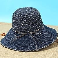 LBY Pequeño Sombrero De Playa Fresca Versión Coreana De Los Viajes Salvajes Plegables Protector Solar Sombrero Grande Visera Sombreros de Sol