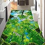 Weaeo 3D Fototapete Anpassen Cliff Woods 3D Stock Wandmalereien Bad Küche Gehweg Vinyl Flooring Adhesives Wandbild Tapeten-280 X 200 Cm