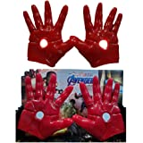 IndusBay Ironman Hand Gloves PVC Flexible Action Figure Cosplay Ironman Gloves with Light Feature Light Model Toys