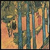 Vincent Van Gogh Poster Kunstdruck und Kunststoff-Rahmen - Les Alyscamps, Fallende Blätter, 1888 (40 x 40cm)
