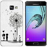 Coque pour Samsung Galaxy A3 (2016) 4,7 Pouces Smartphone - MaiJin Dessin de Amour Pissenlit Gel TPU Bumper Téléphone Silicone Étui Housse Protecteur