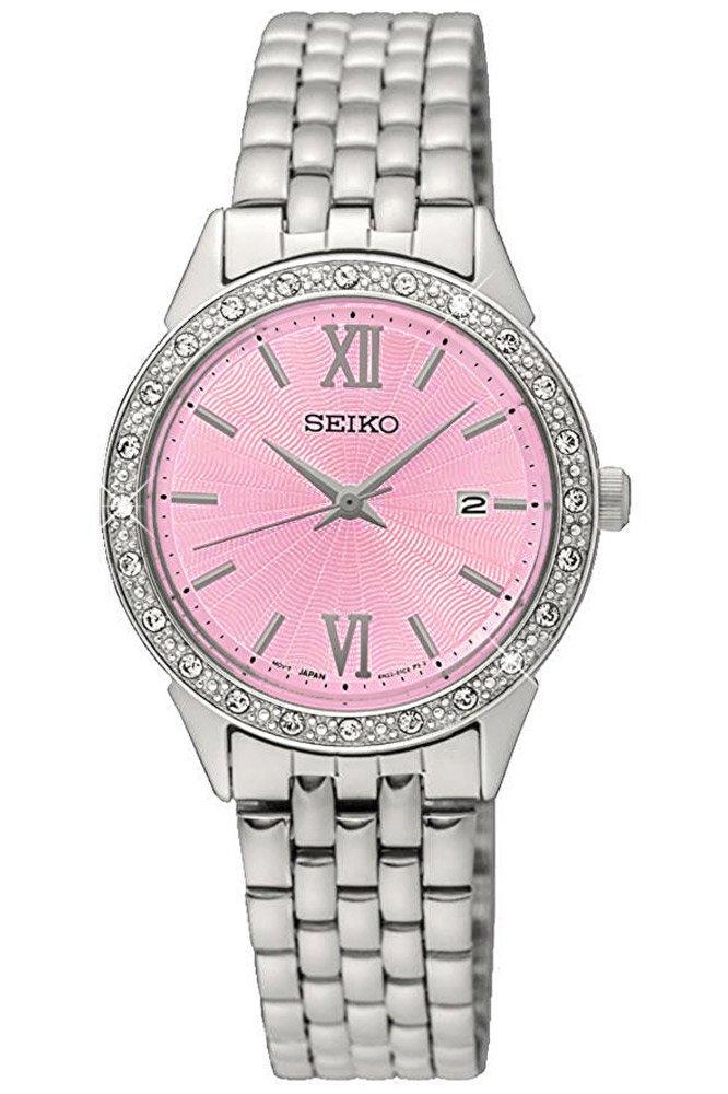 Seiko Reloj para Mujer de Cuarzo con Correa en Acero Inoxidable SUR693P1