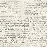 Vintage 1604 Vliestapete Kalligraphie verblasst Beton Beige