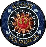 Star Wars Rogue Squadron schwarz Bordüre bestickt abzeichen Patch Aufnäher oder zum Aufbügeln 9cm