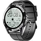 JINPXI Relojes Inteligentes Hombre Llamada Bluetooth con Pulsómetro,Podómetro,Monitor de Sueño,5 Modos de Deportes Cronómetro