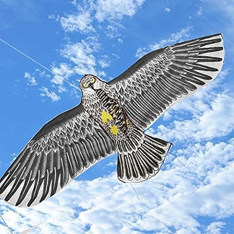 Befied Cerf-volant Grand Aigle avec Ficelle Léger Solide Jouet Jeu de Plein Air pour Enfants Adultes 173x79cm