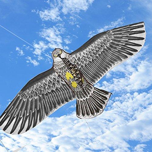 Preisvergleich Produktbild Befied 173x79cm Riesige Adler Flug-Drachen Eagle Drachen Drachenflieger inkl. Drachenschnur für Kinder, Erwachsene und Familien