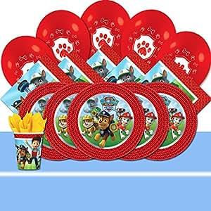 Kit de fête de La Pat'Patrouille pour 16 avec ballons