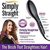 #6: Hk Villa Simply 2 in 1 Straight Ceramic Hair Straightener Brush, Curler and Styler Brush, hair straightener for women, hair straighteners comb brush, hair statner for womens, hair stariaghtner, hair stariaghtner brush