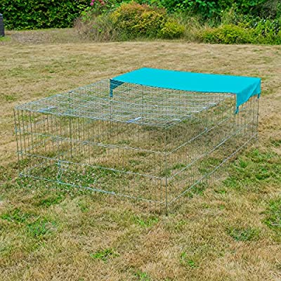 KCT Enclosed Roof Metal Pet Run for Dogs, Cats, Rabbits, Chickens and More by KCT