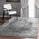 A2Z RUG A2z Schnellspanner traditionellem Collection, Teppich Vintage Grau 160 x 230 cm – 5,5 x 7,5 ft Bereich Teppiche