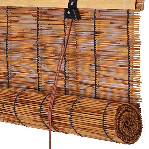 Deevin Bambus Raffrollo, Reed-Rollos, Retro, Raumteiler, Umweltfreundlich, Staubdicht, Verdunkelungsrollos, für Fenster und Türen, Mehrere Größen -