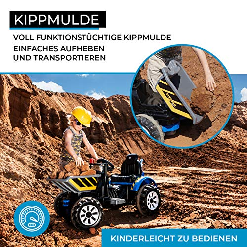 RC Auto kaufen Kinderauto Bild 4: Actionbikes Motors Kinder Radlader JS328C 2 x 25 Watt Motor Elektro Lader Kinderauto Kinderfahrzeug Spielzeug für Kinder Kinderspielzeug (Grün)*