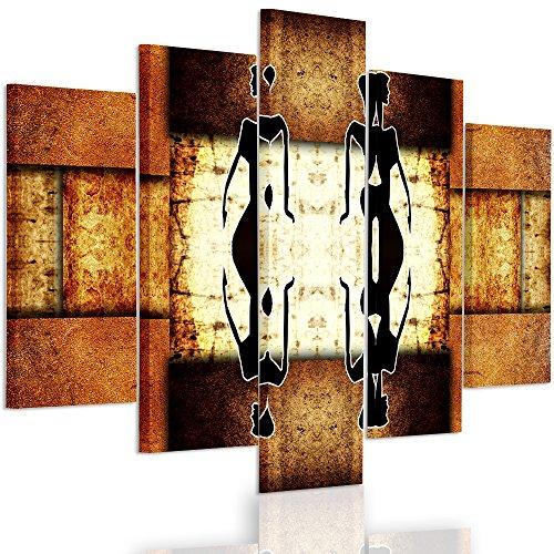 Feeby Frames, Cuadro Grande, Cuadro en lienzo - 5 partes - Cuadro impresión, Cuadro decoración, Canvas XXL, Tipo A, 140x300 cm, MODERNO, ORIENTE, ÁFRICA, MUJERES, PARTONES GEOMÉTRICOS