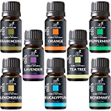 ArtNaturals Therapeutic-Grade Aromatherapy Essential Oil Set – Top 8 Pure of the Highest Quality Oils – Peppermint, Tea Tree, Rosemary, Sweet Orange, Lemongrass, Lavender, Eucalyptus, Frankincense – Therapeutic-Grade