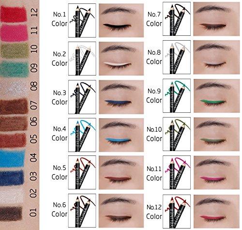 Ucanbe Eyeliner Pencil set Pack of 12 color
